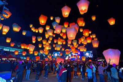 Sky Lantern Festival, Pingxi, New Taipei City, Taiwan