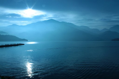 Dawn at Sun Moon Lake, Nantou County